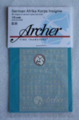 78 symbols White Archer 1//35 German DAK Afrika Korps Insignias WWII AR35026W