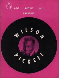 WILSON-PICKETT-SAM-amp-DAVE-1966-TOUR-VINTAGE-CONCERT-PROGRAM-BOOK-BOOKLET
