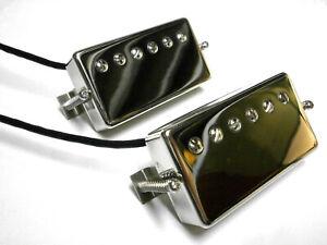PAF 1958-59 Pickups SET Humbucker Chrome Nickel VINTAGE CORRECT Fits Gibson Q