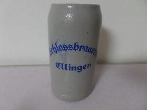 alter 1 L Bierkrug Maßkrug Schlossbrauerei Ellingen
