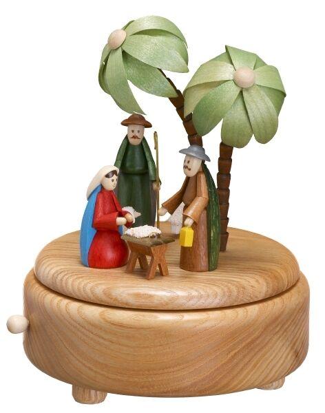 Musikdose nature naissance du Christ petits personnages colorés colorés personnages 16 cm Neuf boîte à musique de Noël bdadf7