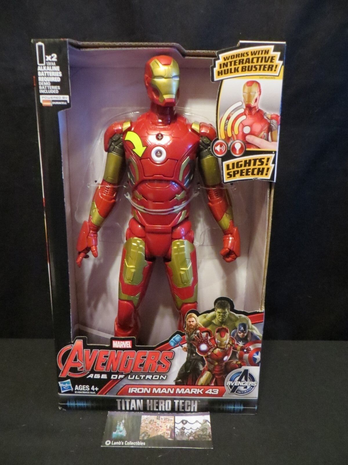 Iron Man Age of Ultron Avengers Titan Hero Tech Hasbro Action Figure