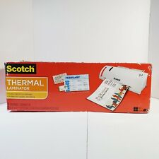 Scotch Tl902 Thermal Laminator Roller System Tested Powers On Heats Up