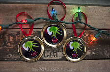 The Grinch Personalized Christmas Ornament Lot of 3 2017 Tree Decoration