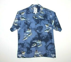Guy-Harvey-Rare-Tuna-Short-Sleeve-Button-Up-Shirt-Size-Men-039-s-Medium