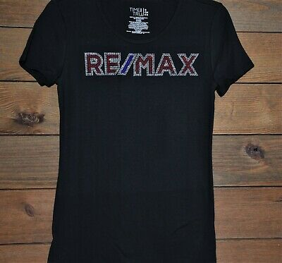 RE//MAX rhinestone glitter bling Shirt XS S M L XL XXL 1X 2X  3X 4X 5X  RE//MAX