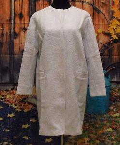 Asos £85 Jacquard Lovely Coat Uk Size Women's 10 Rrp Ornate White d6vxrIvq