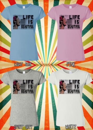 Banksy Life is Beautiful Street Art Men Women Vest Tank Top Unisex T Shirt 1515