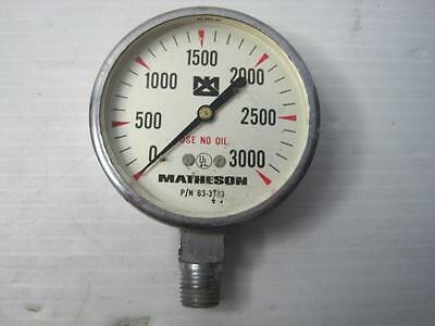 Agressief 8992 Mattheson 3000 Psi Pressure Gauge Gage 63-3133 Free Shipping Conti Usa Groot Assortiment