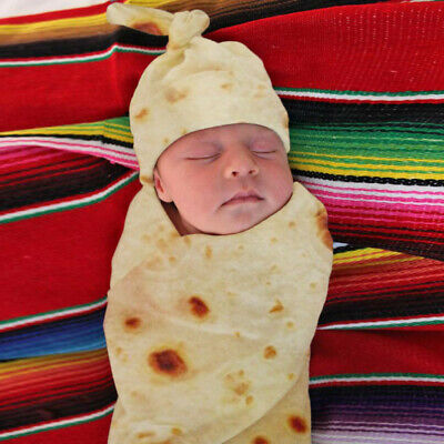 sale retailer 60cb5 4dd5c Mexican Burritos Baby Blanket + Hat Bag Blanket Sleeping ...