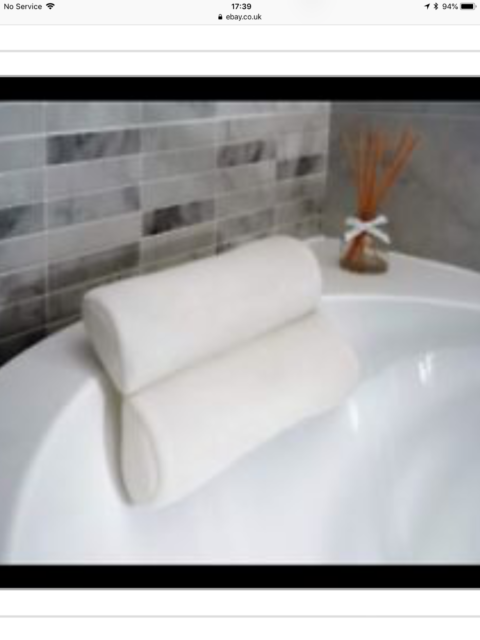 Cuscino Per Vasca Da Bagno Vendita.Luxury White Relaxing Spongy Cushioned Bath Spa Pillow Head Neck