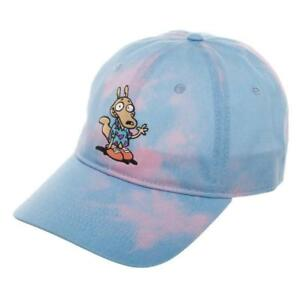Nickelodeon Rockos Modern Life Tie Dye Dad Hat Slouch Curved Bill Cap  Adjustable 6b469e5bc63d
