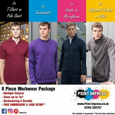 Personalised Workwear Clothing Package - Free Logo Embroidery GläNzende OberfläChe