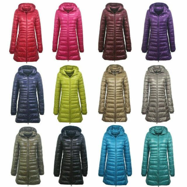 Women/'s Duck Down Puffer Slim Jacket Coat Hooded Hoodie Ultralight Outdoor Parka