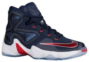 new product 8aba6 8525f Image is loading NIKE-LEBRON-JAMES-XIII-BASKETBALL-SHOE-GRADE-SCHOOL-