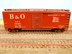 HO-SCALE-KAR-LINE-BALTIMORE-amp-OHIO-B-amp-O-470623-40-039-BOX-CAR-RTR