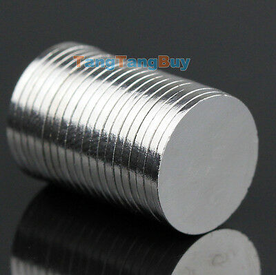 20 X N35 Strong Cylinder Disc Magnet D 12mm X 1mm Round Rare Earth Neodymium Lot