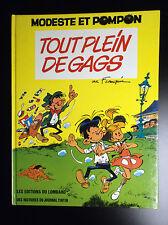 Modeste et Pompon Tout plein de gags  EO 1973 TRES TRES BON ETAT Franquin