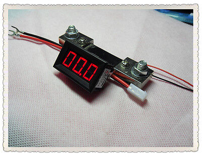 Ammeter (0-100A) the ammeter head, powered 4-30V with shunt