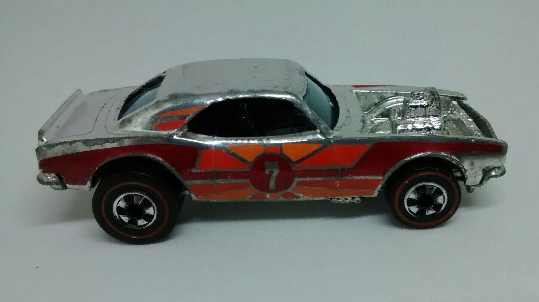 70er jahre hot wheels rotline schwere chevy chrome hat tampo   7. Orange - rot
