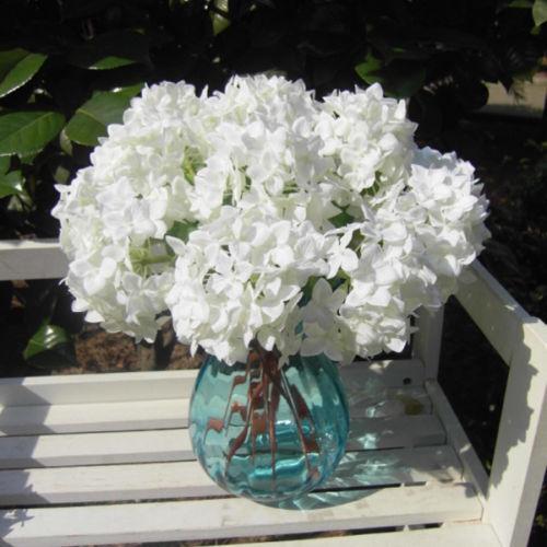 2015 Hortensie Seide Blume Künstliche Startseite Hochzeit Dekor  Blumenstrauß