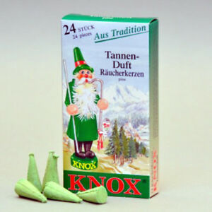 """Knox """"Pine"""" Incense Cones, 24 count - Direct From Germany"""