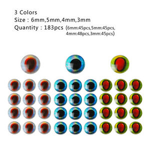 500Pcs 3-6mm Fish Eyes 3D Holographic Lure Eyes Fly Tying Jigs Crafts Dolls  SG