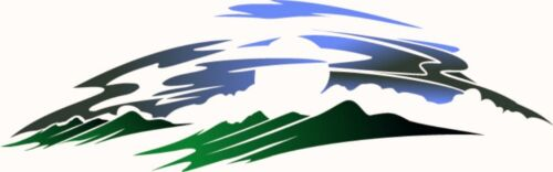 1 RV TRAILER MOTORCOACH MOUNTAIN SCENE DECAL GRAPHIC 968