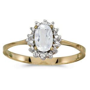 10k-Yellow-Gold-Oval-White-Topaz-And-Diamond-Ring