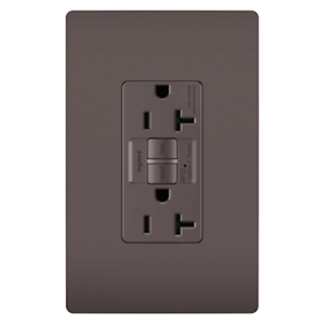 Pass /& Seymour Legrand Tamper resistant AFCI 20a receptacle brown