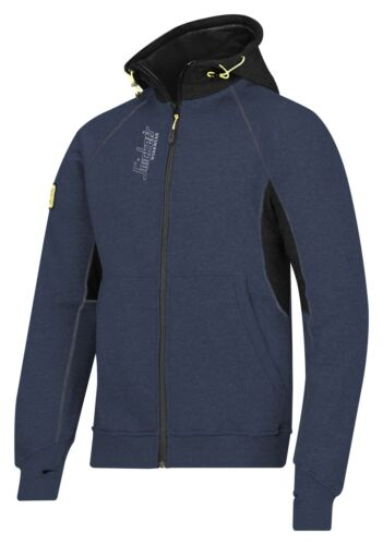 Snickers 2816 Zipped Logo Hoodie Snickers Hoodies Mens Direct Navy Pre