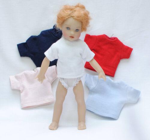 "colores//shortsleeve t-shirt 6/"" Dolls var el coronel Boneka manga corta t-shirt 15cm div"