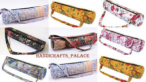 40-Pcs-Wholesale-lot-Kantha-Yoga-Mat-Bag-Fitness-Carrier-Gym-Sports-Strap-Bags