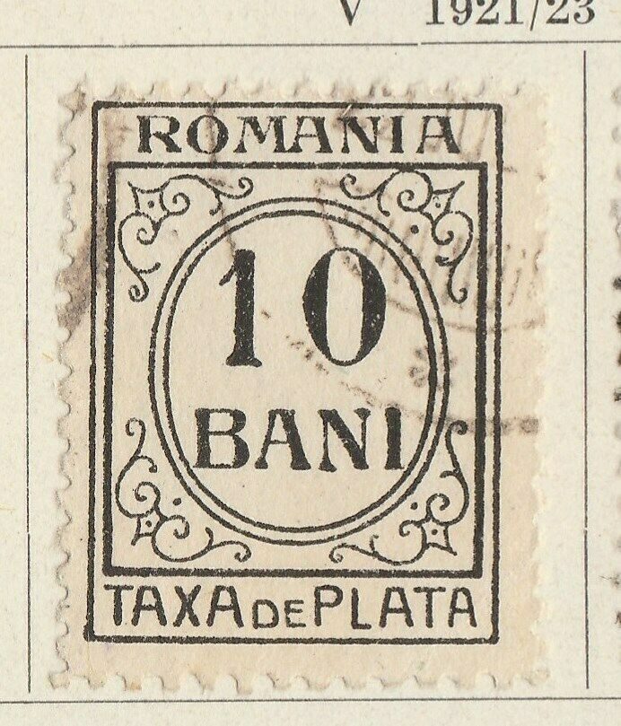 A5P50F417 Romania Postage Due Stamp 1920-26 Unwmk white paper 10b used