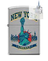 Zippo 5694 Statue Of Liberty Ny City Lighter & Z-plus Insert Bundle