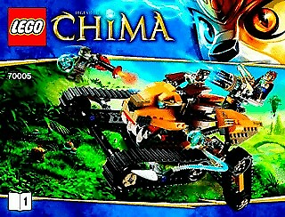 Lego Legends of Chima, 70005 Laval's Royal Fighter, Komplet…