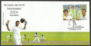 INDIA-2013-SACHIN-TENDULKAR-200th-CRICKET-TEST-MATCH-2v-Official-FIRST-DAY-COVER