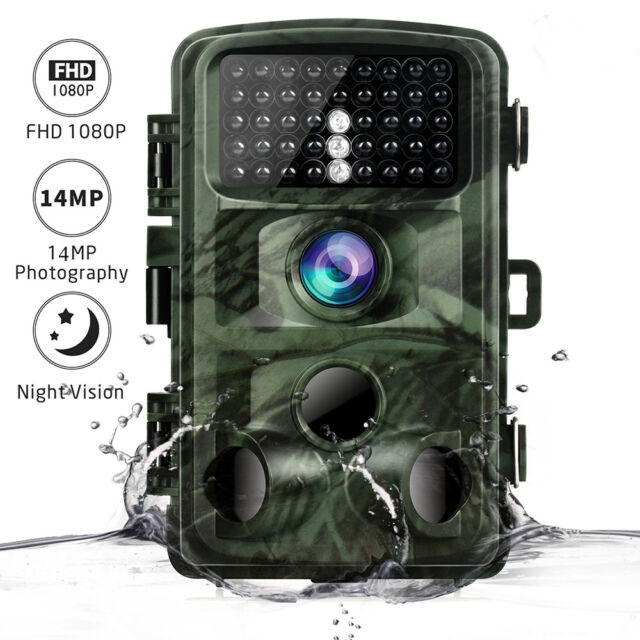 Toguard Trail Camera 14MP 1080P Infrared Night Vision Game Wildlife Hunting Cam