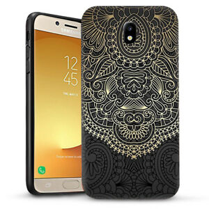 the best attitude 64847 0a985 Gold pattern Mandala Dual Layer heavy duty Case Cover For Galaxy J2 ...