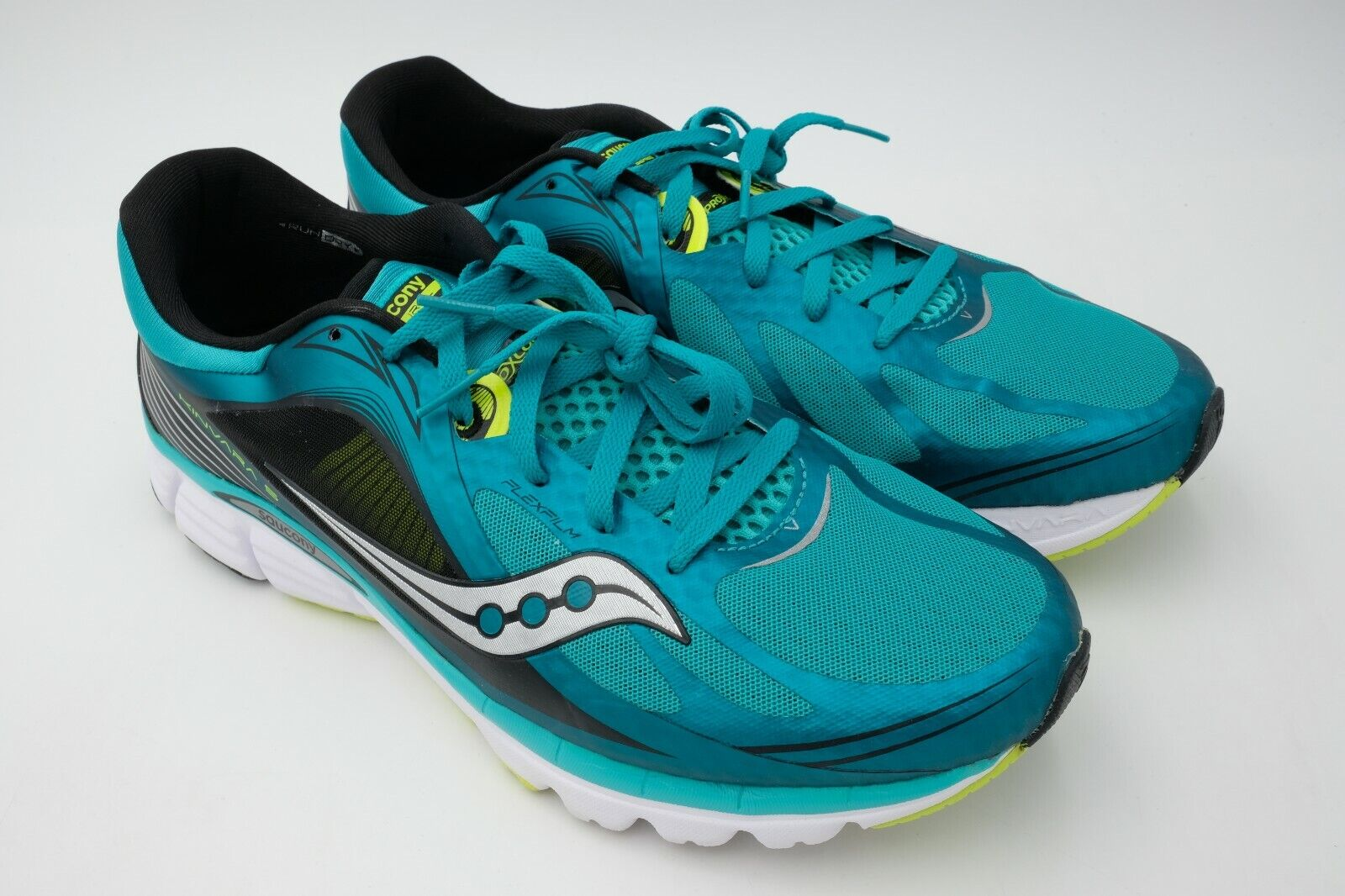 50c8fea37a3ac Saucony Men s Kinvara 5 Running shoes Size US 12.5 Used Citron Teal ...