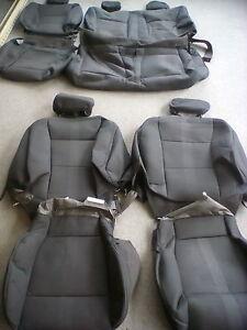 set  seat covers  ford  xlt stx crew cab black ebay