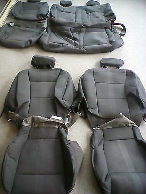 Set Of Seat Covers 2016 Ford F150 Xlt Stx Crew Cab Black Ebay