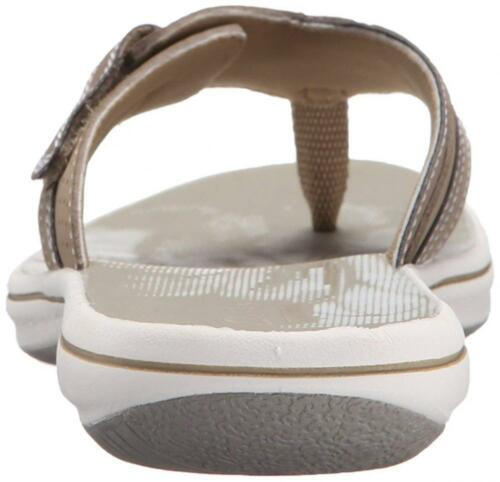 Gold Details about  /Clarks Women/'s Brinkley Keeley Flip-Flop  12