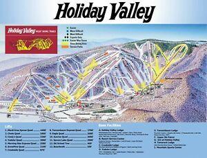Holiday-Valley-Resort-Ski-Map-Poster