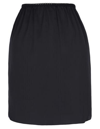 "Women/'s 18/"" Comfortable Satin Waist Slip Half Slip Petticoat Underskirt Skirt"