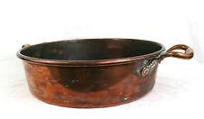Antique Victorian Huge Copper Pan Cooking Pot Heavy Copper Rivets