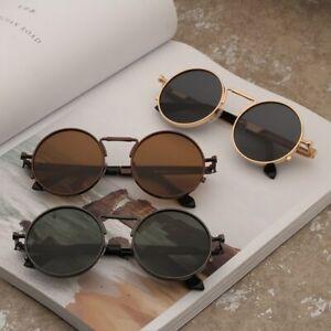 Vintage-Men-Sunglasses-Women-Retro-Punk-Style-Round-Metal-Frame-Colorful-Lens