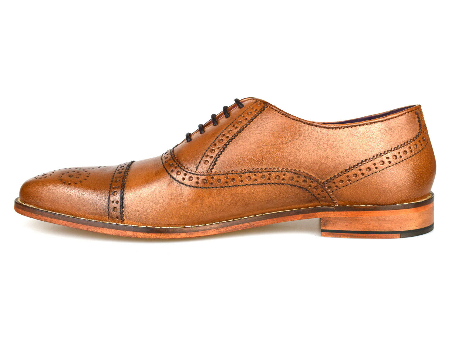 Gucinari Castello Tan Leather Formal Formal Formal Brogue Shoes AMP-008 Free UK P&P! 03fd77