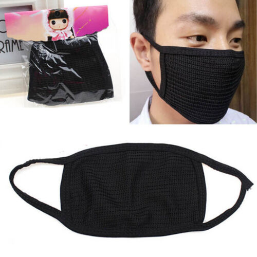 Fashion Unisex Black Health Cycling Anti-Dust Cotton Mouth Face Mask RespirP0CA