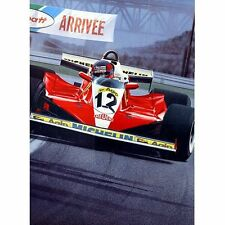Gilles Villeneuve Ferrari F1 Born Legend by Artist Gavin MacLeod Print